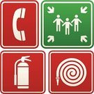 Fire Extinguisher,Fire Hose,Emergency Sign,Urgency,Symbol,Assembly Room,Sign,Vector,Information Sign,Placard,People,Men,meeting point,Illustrations And Vector Art,Emergency Assembly Point,Metal,Green Color,Ilustration,Arrow Symbol,White,Red,Information Symbol