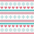 Pixelated,Square,No People,Greeting Card,Christmas,Scandinavian Culture,Illustration,Winter,Seamless Pattern,Heart Shape,Backgrounds,Craft Product,Tree,Turquoise Colored,Sweater,Clothing,Red,Pattern