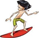 Surfing,Surfboard,Little Boys,Men,Surf,Vector,Travel Destinations,Vacations,Teenager,Sport,Activity,Human Face,Tropical Climate,Water,Youth Culture,Pursuit - Concept,Travel,Wave,Fun,Summer,One Person,Lifestyles,Young Adult,Swimwear,Adult,Outdoors,Sea,Male,Recreational Pursuit,Extreme Sports,Illustrations And Vector Art,Sports And Fitness,Water,Vector Cartoons,Leisure Activity