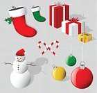 Christmas Stocking,Christmas,Three-dimensional Shape,Holiday,Stockings,Gift,Snowman,Christmas Present,Candy,Santa Hat,Vector,Hat,Wrapped,Box - Container,Christmas Ornament,Christmas Decoration,Wrapping Paper,Candy Cane,Gold,Holly,Christmas Icons,Gold Colored,Package,wraped,christmas elements,Bow,Ilustration,Celebration,Christmas,Cap,Objects/Equipment,Holidays And Celebrations,Illustrations And Vector Art,Ribbon,holly berries