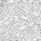 Square,No People,Back to School,Doodle,Illustration,Seamless Pattern,Education,Pattern