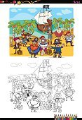 Preschool Age,Vertical,Characters,Humor,Fantasy,Black And White,Moving Activity,Ship,Caricature,Computer Software,Activity,Cartoon,Collection,Coloring,Illustration,Island,Treasure Chest,Mobile App,Pirate - Criminal,Coloring Book,Education,Clip Art,Vector,Drawing - Art Product,White Color,Black Color