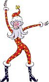 Santa Claus,Christmas,Dancing,Funky,Humor,Disco Dancing,Party - Social Event,Cool,Christmas Decoration,Dancer,Winter,Clause,ho,Saint,Rock and Roll,Ilustration,Cheerful,Hat,Single Step,Star Shape,Steps,Fun,cluas,Celebration,Happiness,Holidays And Celebrations,December,Barb,Arts And Entertainment,Parties,Christianity,Red
