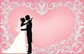 Bride,Bridegroom,Silhouette,Couple,Heart Shape,Wedding Dress,Clip Art,Backgrounds,Black Color,Vector,Pink Color,Tuxedo,Newlywed,Romance,Pattern,Snow,Design,Kissing,Love,Ilustration,Dating,Wedding Reception,Men,Bouquet,Outline,Back Lit,Scroll Shape,People,Profile View,Spiral,Women,Circle,Design Element,Evening Gown,Husband,Star Shape,Suit,Wife,Illustrations And Vector Art,Flirting,Vector Backgrounds,Holidays And Celebrations,People,Weddings,Holiday