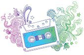Audio Cassette,Sketch,Doodle,Music,Art,Single Line,Ornate,Pattern,Drawing - Art Product,Multi Colored,Striped,Recording Studio,Swirl,Design,Floral Pattern,Vector,Audio Equipment,Pencil Drawing,Ilustration,Sound,Circle,Wave Pattern,Shape,Art Product,Curve,Line Art,Scroll Shape,Star Shape,Objects/Equipment,Music,Arts And Entertainment,Curled Up,Play,hand drawn,Illustrations And Vector Art