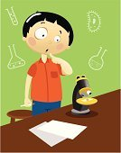 Child,Science,Student,Cartoon,Curiosity,Microscope,Laboratory,Scientific Experiment,Confusion,Classroom,Exam,Vector,Little Boys,Desk,Study,Surprise,Ilustration,Chemistry,Chemistry Class,Characters,Cilium,Clip Art,Staring,Flask,Learning,Shirt,Single Object,Pencil,School Children,Green Color,Paper,Real People,Liquid,Pants,Tube,Humor,People,Illustrations And Vector Art,Micro Organism,Tubing,Blue,Computer Graphic,Medicine And Science,Science Symbols/Metaphors,Test Tube,Unicellular Organism,Orange Color,Young Adult,Medical Sample