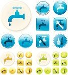 Faucet,Water Pipe,Computer Icon,Water,Vector,Repairing,Work Tool,Spanner,Ilustration,Adjustable Wrench,Wrench,Occupation,Green Color,Interface Icons,Blue,Symbol,Clip Art,Label,Digitally Generated Image,Shiny,Yellow,Color Image,Colors