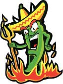 Hot Sauce,Salsa,Chili Pepper,Jalapeno Pepper,Mexican Culture,Cartoon,Heat - Temperature,Carnival,Sombrero,Food,Vector,Flame,Fire - Natural Phenomenon,Party - Social Event,Vegetable,Fruits And Vegetables,Vector Cartoons,Cooking,Illustrations And Vector Art,Food And Drink