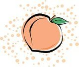 Peach,Fruit,Spotted,Polka Dot,Fruits And Vegetables,Food And Drink