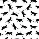 wallk,Square,Cut Out,Silhouette,Back Lit,Domestic Cat,Sign,Animal,Cute,Remote,Illustration,Nature,Animal Markings,Flat,Kitten,Seamless Pattern,Pets,Small,Playful,Backgrounds,Vector,Pattern,White Color,Black Color,White Background