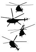 Helicopter,Silhouette,Army,Vector,Armed Forces,Military,Land Vehicle,Airplane,War,Isolated,Weapon,Propeller,Industry,Ilustration,Travel,Air,Mode of Transport,Flying,Retail/Service Industry,Industry,Transportation,Illustrations And Vector Art