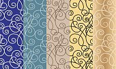 Horizontal,No People,Illustration,Swirl,Seamless Pattern,Decoration,Backgrounds,Pattern