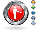 Beggar,Interface Icons,Push Button,Silver - Metal,Hat,Begging - Social Issue,Simplicity,Internet,Blue,Poverty,Blank,Grid,Curve,Circle,Computer Icon,Green Color,Empty,Symbol,Stick Figure,Metal,Red,White Background,Hole,Sparse,Vector,Ilustration,Metallic,Silver Colored