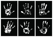 Child,Horizontal,Abstract,Identity,Mystery,Black And White,Thumb,Background,Sign,Crime,Collection,Track - Imprint,Illustration,People,Shape,Ink,Image,Symbol,Part Of,Handprint,Backgrounds,Vector,Fingerprint