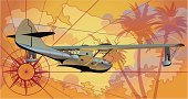 Airplane,Retro Revival,Travel,Old-fashioned,Map,Seaplane,Compass,Old,1940s Style,Island,Tropical Climate,Adventure,Cartography,Cartoon,Obsolete,Sea,Palm Tree,Flying,Vector,Air,Design,Sun,Cloud - Sky,Propeller,Landscape,Transportation,Ilustration,Travel Destinations,Vacations,Computer Graphic,Sunset,Silhouette,Backgrounds,Freedom,Extreme Terrain,Cloudscape,Summer,Antique,Wing,Orange Color,Seascape,Sky,Land
