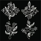 Leaf,Flower,Single Flower,Curled Up,Symbol,Calligraphy,Ornate,Pattern,Floral Pattern,Old-fashioned,Swirl,In A Row,Design,Computer Graphic,Elegance,Set,Black Color,Stroking,Decor,Decoration,Backgrounds,Design Element,Vignette,Insignia,Black And White,Vector Florals,Vector Backgrounds,Vector Icons,Collection,Religious Icon,Illustrations And Vector Art