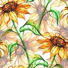 Square,No People,Art,Watercolor Painting,Watercolor Paints,Painted Image,Single Flower,Art And Craft,Backgrounds,Flower,Illustration,Paint,Seamless Pattern,Sunflower,Art Product,Yellow,Pattern
