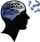 Human Brain,Human Head,Silhouette,Human Face,Question Mark,Symbol,People,Mental Health,Thinking,Men,Black Color,Contemplation,Scrutiny,Intelligence,Vector,Male,White,Ilustration,Concentration,Design,Concepts,Blue,Ideas,Inspiration,Illustrations And Vector Art,Concepts And Ideas,People,handcarves