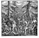 78273,XVI Century,Pauper,Horizontal,Elegance,Adulation,Conflict,Retro Styled,Rebellion,Black And White,Germany,Art And Craft,Sketch,Art,Woodcut,16th Century,Old-fashioned,Old,Farmer,Engraved Image,16th Century Style,Farm Worker,Illustration,German Culture,Symbol,Cultures,Social History,Hans Holbein,Antique,Drawing - Activity,History,Fighting,Battle,Etching,Engraving,Real People,Old,Monoprint