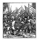 78273,XVI Century,Pauper,Vertical,Conflict,Retro Styled,Rebellion,Black And White,Germany,Art And Craft,Sketch,Art,Woodcut,16th Century,Old-fashioned,Old,Engraved Image,16th Century Style,Farm Worker,Illustration,German Culture,Symbol,Spear,Cultures,Social History,Antique,Brochure,Drawing - Activity,History,Fighting,Battle,Etching,Old