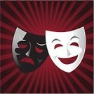 Theater Mask,Comedy Mask,Protective Mask - Workwear,Humor,Tragedy Mask,Theatrical Performance,Acting,Vector,Named Play,Performance,Ilustration,Arts And Entertainment,Theatre,Illustrations And Vector Art,Joy,Anger,Lake