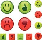 Smiley Face,Smiling,Symbol,Positive Emotion,Computer Icon,Rudeness,Sadness,Happiness,Cheerful,Green Color,Thumbs Up,Depression - Sadness,Evil,Thumbs Down,Red,right,Interface Icons,Circle,Approved,Square Shape,Vector,Shiny,Square,Frowning,Ilustration,Vector Icons,Illustrations And Vector Art