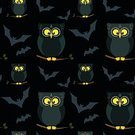 Square,Celebration,Mystery,Silhouette,Background,Cartoon,Illustration,Animal Markings,Animal Eye,Seamless Pattern,Backgrounds,Halloween,Owl,Animal Body Part,Tree,Vector,Pattern,Dark