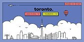 Panoramic,Horizontal,Toronto,Canada,Internet,Heading the Ball,Template,Background,Figurehead,Outdoors,Straight,Vector,Backgrounds,Urban Skyline,Architecture,Computer Graphic,Sea,Tower,Famous Place,Computer Graphics,Symbol,Illustration,Infographic,Web Page,Website Template,Tourism