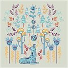 Square,Art,Funky,Decor,Ornamental Garden,Art And Craft,Vector,Backgrounds,Scandinavian Culture,Modern,Drawing - Activity,Decoration,Botany,Cultures,Drawing - Art Product,Arts Culture and Entertainment,Branch,Forest,Illustration,Design,Ornate,Nature,Tree,Geometric Shape,Christmas Tree,Shape,Fashion,Christmas,Textile