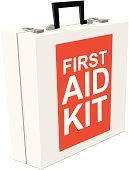 First Aid Kit,First Aid,Emergency Services,Preparation,Safety,Healthcare And Medicine,Ilustration,Isolated On White,Vector,No People