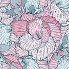 Square,No People,Art,Bouquet,Art And Craft,Leaf,Plant,Flower,Blossom,Illustration,Seamless Pattern,Nature,Blue,Floral Pattern,Pattern,Pink Color