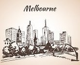 60595,Horizontal,City Life,Silhouette,Australia,No People,City,Tower,Illustration