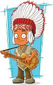 Young Adult,Adult,61814,Cut Out,Vertical,Humor,Community,Native American Ethnicity,Men,Headband,Human Mouth,Human Teeth,American Culture,Eyebrow,Indigenous Culture,Vector,Feather,Human Body Part,Chief - Leader,Human Eye,Human Face,Illustration,Guitar,Eye,North American Tribal Culture,Cartoon,National Landmark,Small,Standing,Smiling,Traditional Clothing,Poncho,Red