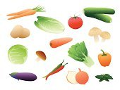 Onion,Cabbage,Symbol,Icon Set,Vegetable,Healthy Eating,Tomato,Food,Vector,Raw Potato,Edible Mushroom,Color Image,Melon,Isolated Objects,Illustrations And Vector Art,Radish,Design,Food And Drink