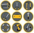 Horizontal,Work Tool,Vector,Repairing,Construction Industry,Business Finance and Industry,Group Of Objects,Screwdriver,Symbol,Illustration