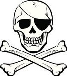 Skull and Crossbones,Pirate,Pirate Flag,Human Bone,Halloween,Horror,vector icon,Vector Icons,Spooky,Illustrations And Vector Art