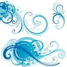 Swirl,Water,Vector,Spray,Design,Blue,Backgrounds,Grunge,Symbol,Splattered,Paint,Scroll Shape,Growth,Ornate,Ilustration,Decoration,Winter,Elegance,Curled Up,Colors,Style,No People,Digitally Generated Image,Color Image