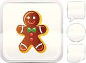 Gingerbread Cookie,Gingerbread Man,Gingerbread Cake,Men,Cookie,Christmas,Chocolate,Symbol,Cartoon,Vector,Ilustration,Sphere,Set,Smiling,Dessert,Shiny,Interface Icons,Food,Square,Bow,Isolated On White,Empty,Silver Colored,Christmas Cookie,Label,Square Shape,Bubble,Modern,Silver - Metal,White Background