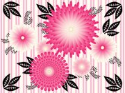 Black Color,Pink Color,Backgrounds,Striped,Abstract,Vector,Vector Florals,Illustrations And Vector Art,Leaf,Floral Pattern