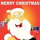 Santa Claus,Christmas,Gift,Laughing,Cheerful,Sharing,Positive Emotion,Vector,A Helping Hand,Ilustration,Giving
