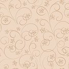 Abstract,Square,No People,Curve,Curled Up,Vector,Backgrounds,Flower,Light - Natural Phenomenon,Illustration,Bent,Seamless Pattern,Nature,Single Line,Textured,Beige,Floral Pattern,Pattern,Brown