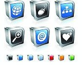 Web Page,Icon Set,Three-dimensional Shape,Symbol,Computer Icon,Internet,'at' Symbol,Globe - Man Made Object,Plus Sign,Wire Frame,Heart Shape,Red,Technology,Communication,Planet - Space,E-Mail,Global Communications,Blue,Organization,Empty,Computer Mouse,Metal,Sphere,Orange Color,Green Color,Square Shape,Modern,Reflection,Magnifying Glass,Sparse