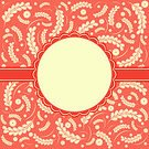 Square,No People,Label,Backgrounds,Leaf,Swirl,Illustration,Ornate,Seamless Pattern,Pattern,Red