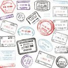Rubber Stamp,Passport Stamp,Passport,Travel,Journey,Travel Destinations,Airport,Vacations,Customs,Vector,Sketch,Aspirations,Ilustration,No People,Digitally Generated Image,Color Image,Colors