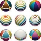 Sphere,Spiral,Three-dimensional Shape,Planet - Space,Beach Ball,Rainbow,Multi Colored,Spinning,Symbol,Striped,Circle,Turning,Shiny,Set,Vector Icons,Nature Abstract,Illustrations And Vector Art,Nature,Holidays And Celebrations