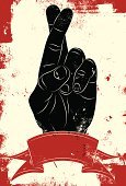 Luck,Hope,Fingers Crossed,Human Finger,Thumb,Red,Distressed,Human Hand,Grunge,Wishing,Sign,Backgrounds,Vector,Symbol,Banner,Line Art,Black Color,Clip Art,Weathered,Ribbon,Digitally Generated Image,Illustrations And Vector Art,Concepts And Ideas,Design Element,Textured Effect,Modern,Damaged,Copy Space,People,Computer Graphic,Communication,Gesturing,Blank,Communication,Ilustration