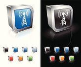 Radio,Tower,Communications Tower,Three-dimensional Shape,Wave Pattern,Computer Graphic,Green Color,Symbol,Shiny,Computer Icon,Vector,Modern,Metal,Pattern,Empty,Blue,Digitally Generated Image,Reflection,White Background,Technology,Black Background,Sparse,Red,Orange Color
