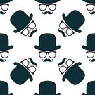 Square,Retro Styled,Elegance,Art,Background,Art And Craft,Backgrounds,Pencil Drawing,Arts Culture and Entertainment,Illustration,Fashion,Hat,Pattern,Mustache,Eyeglasses,Bowler Hat