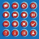 Ui,Square,Connection,No People,Template,Background,Vector,Backgrounds,Computer Graphic,Sign,Mobile App,Resting,Shiny,Computer Graphics,Symbol,Illustration,Resource,Grilled,Collection,Computer Software,Menu,Circle,Red