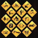Accident,Sign,Falling,Car,Disaster,Drowning,Computer Icon,Yellow,Cartoon,Icon Set,Crocodile,UFO,Lightning,Hitting,Road Sign,Lion - Feline,Exploding,Death,Black Color,Adversity,White,Ilustration,Biting,Kidnapping,Design Element,Burning,Shiny,Color Gradient,Toxic Substance,Illustrations And Vector Art,Kicking